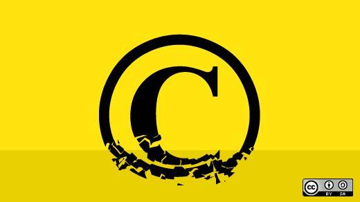 Bröckelndes Copyright-Zeichen