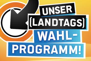 Werbebanner für das Landtagswahlprogramm
